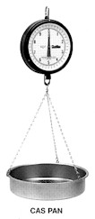 Chatillon CAS pan hanging scale