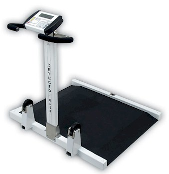 Detecto medical scale - Sturdy, yet lightweight, the Detecto 6550 portable wheelchair scale folds up for easy transport.